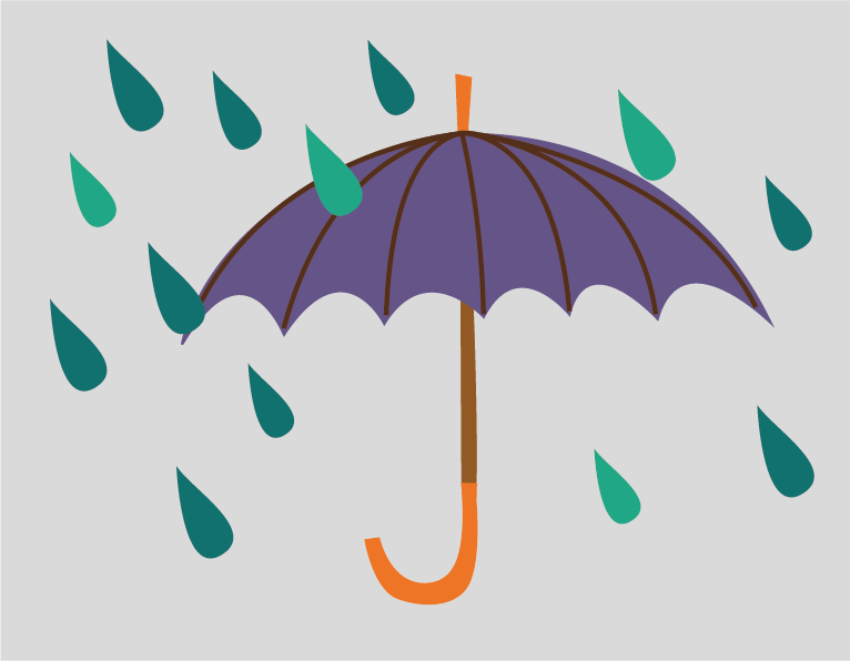 rain umbrella illustration
