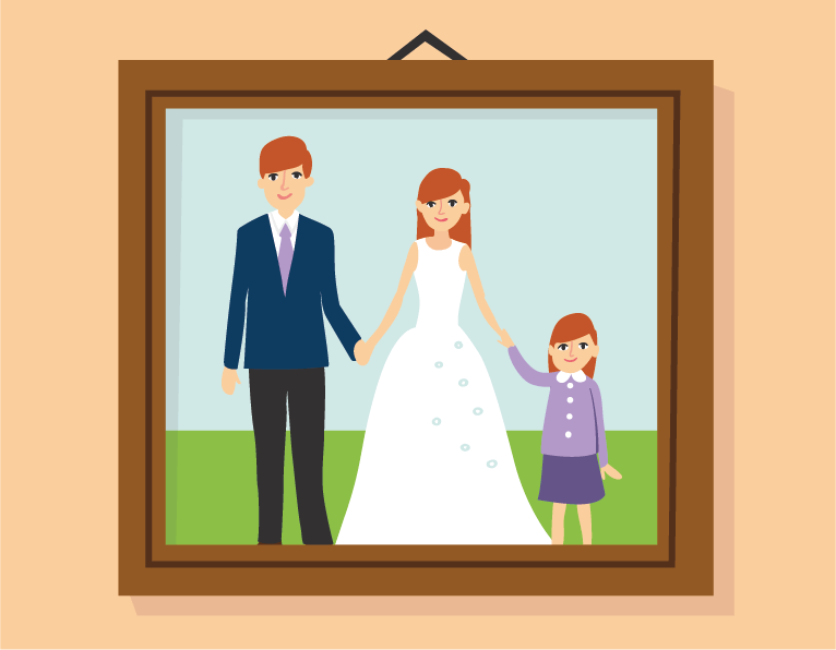 family frame illustration