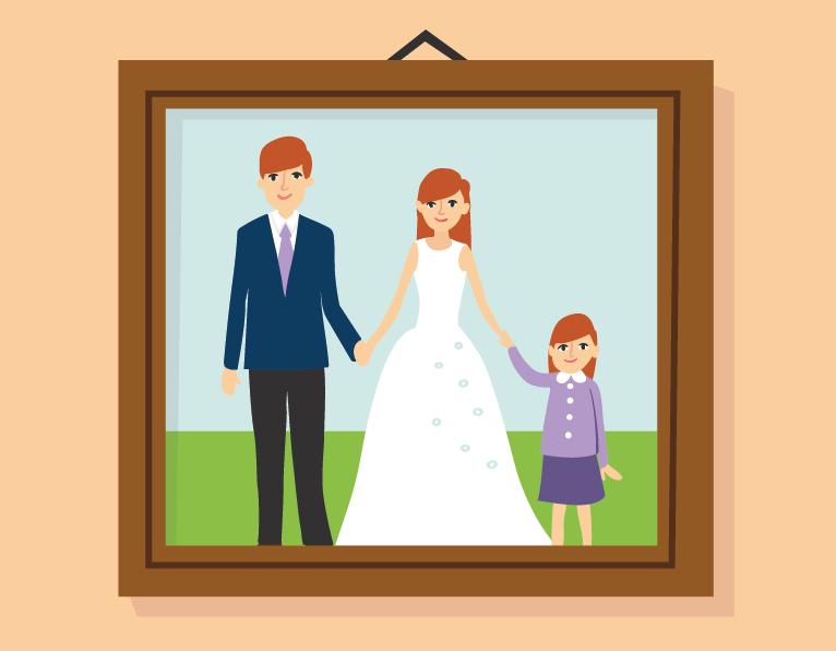 family frame illustration