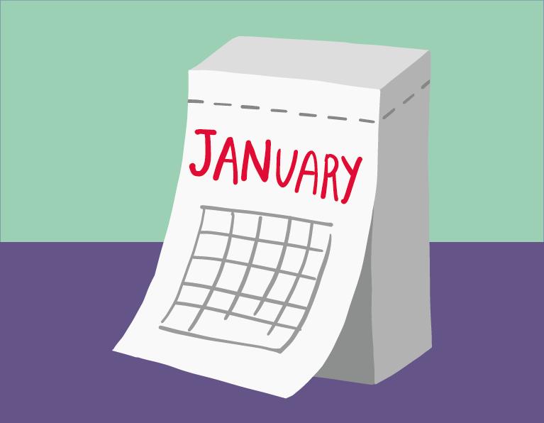 month mandarin illustration