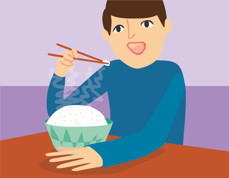 eat chopsticks illustration