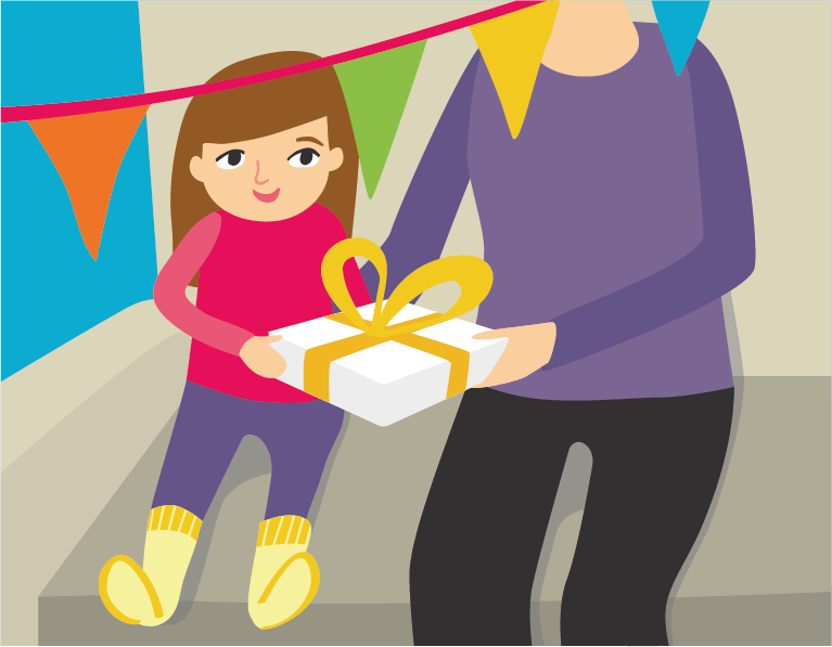 give present illustration