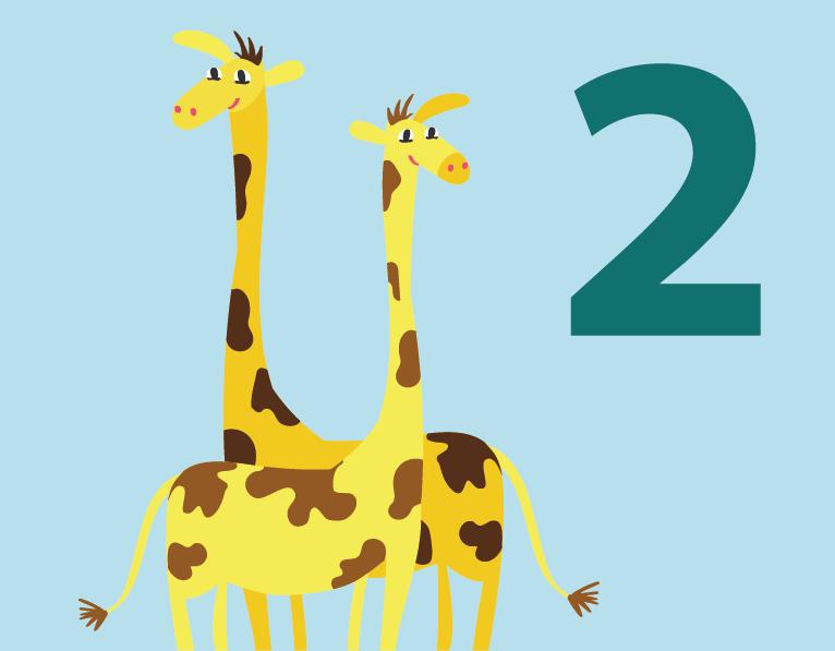 two giraffes illustration