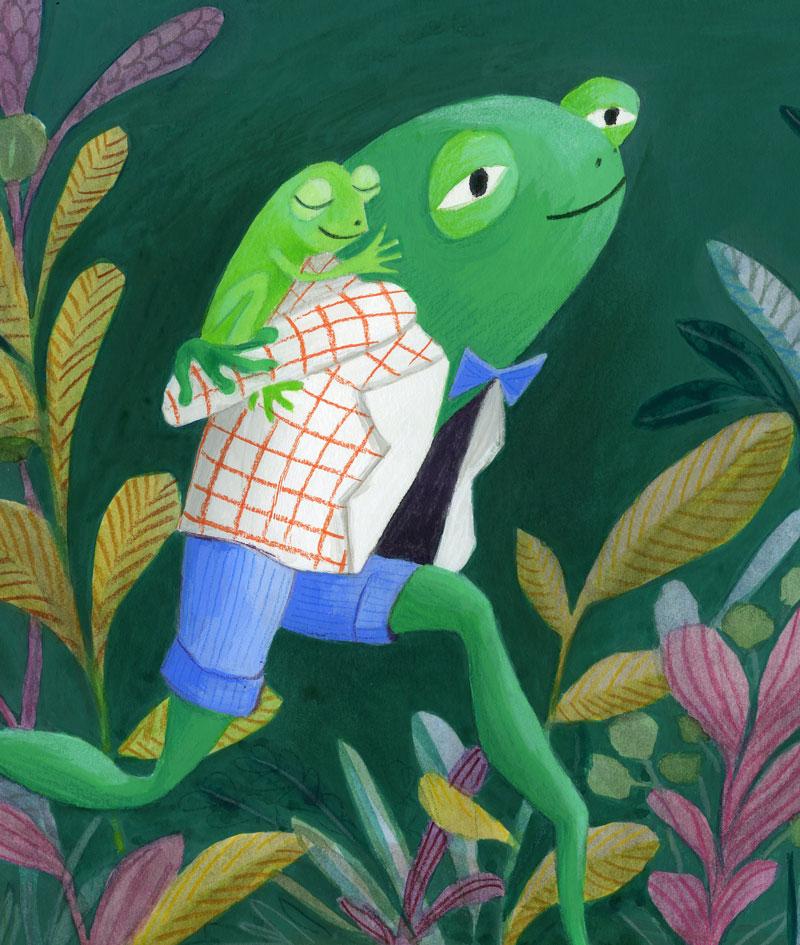 frog character design detail ideeHB