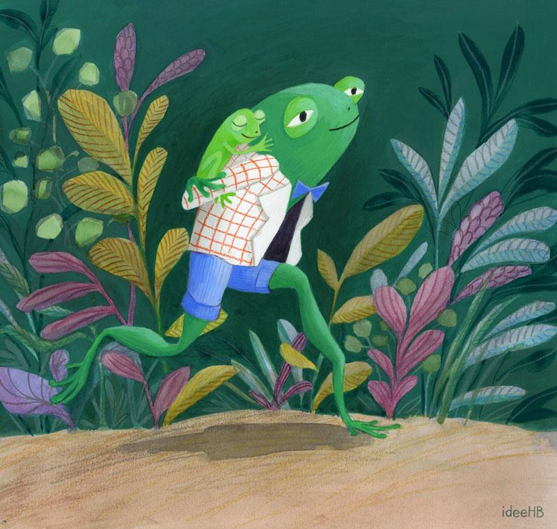 frog character design ideeHB