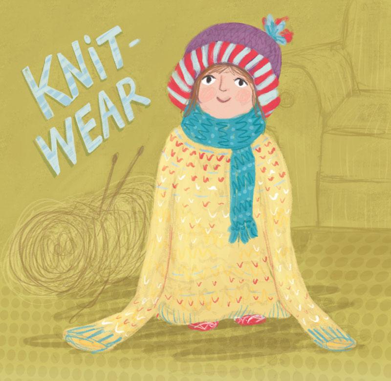 knitwear girl character ideehb