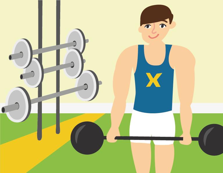 weight lifting illustration
