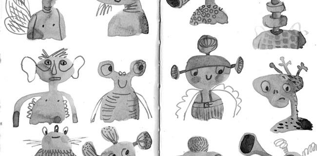 ideeHB inktober space characterdesign