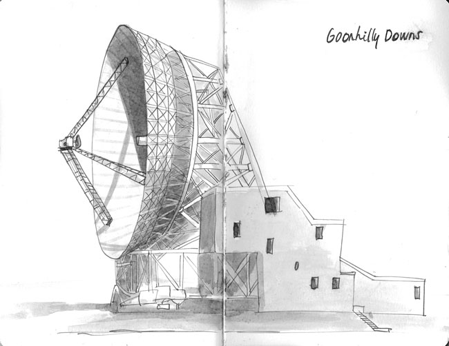 inktober space goonhilly downs