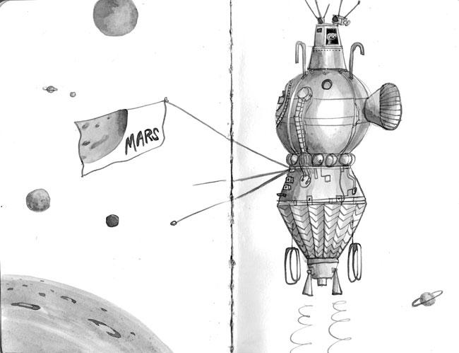 ideeHB inktober space machine