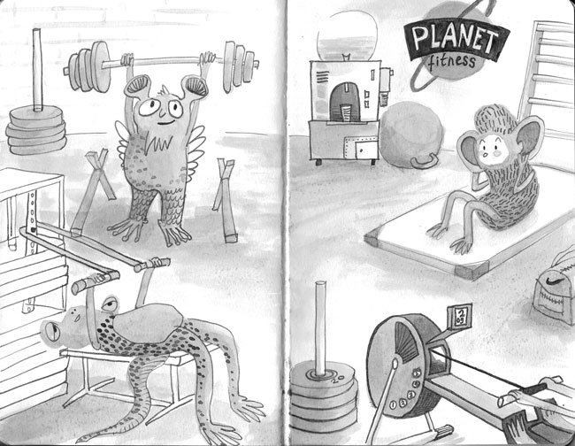 inktober space planet fitness